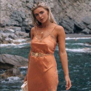 ♥️ Spell ♥️ Rizzo Silk Slip Dress